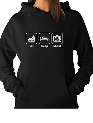 Eat Sleep Shoot Gift for Photographer Women Hoodie