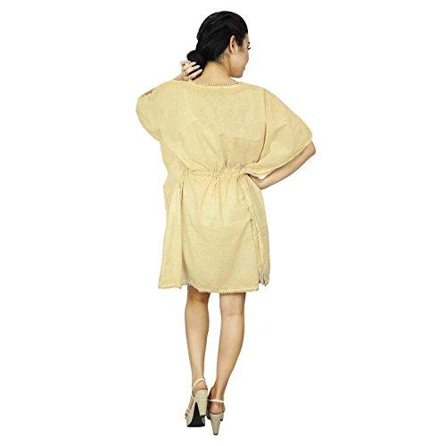 African Kaftan Boho Hippie-Plus Size Women Shirt Strand-Vertuschung-Kaftan Geschenk für Frauen Beige