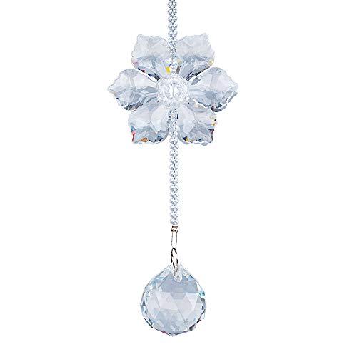 LS2 1 Pieza/Set de Colgante de Ventana de Cristal de atrapasueños octogonales Cadena Esfera lámpara de araña lámpara Colgante Cortina de la decoración de la Boda Regalo