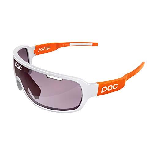 POC Unisex- Erwachsene DOBL5011 Sonnenbrille, Hydrogen White/Zink Orange, VLS