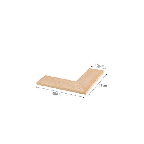 Preisvergleich Produktbild Shelf Doppelseitiges Eckregal,  Nordeuropa Massivholz Eckregal,  rechtwinklig zum Wandregal (Farbe : Eiche,  größe : Kleine)