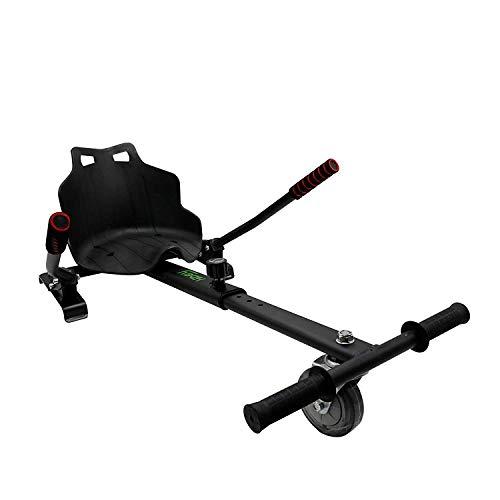 hiboy, silla self balancing compatible con todos los patinetes eléctricos de 6.5, 8 y 10 pulgadas, niños, asiento kart negro, talla unica