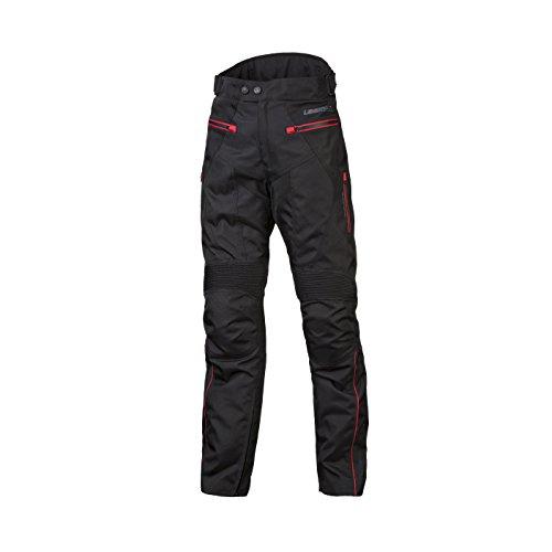 Motorrad-chaps Frauen (Lookwell Outback Textil Motorrad Reiten Hose, schwarz/rot, Größe 48/28(S))