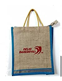 Eco Friendly Jute Bag With Delhi Daredevil Logo