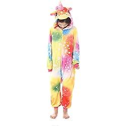 Pijama Animal Entero Unicornio Niños Pijamas Unisexo Traje para Mujer Hombre Disfraz para Navidad