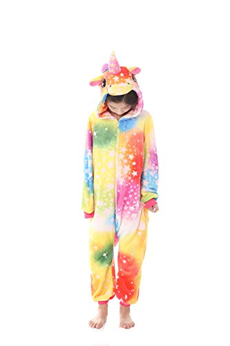 Kinder Cosplay Kostüme Strampelanzug Pyjamas Tier Cartoon Jumpsuit Nachtwäsche Einhorn