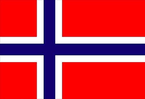 Queenshiny® Europa Länder Nationalflaggen Fahne/Flagge 90 x 150 cm (Norwegen)