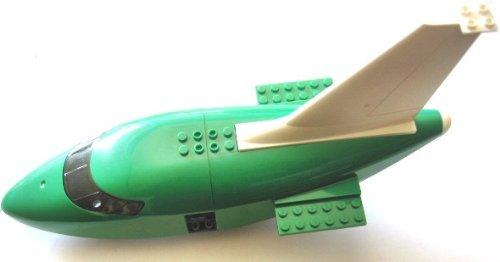 Preisvergleich Produktbild LEGO CITY - 4 seltene Teile für grosses LEGO - FLUGZEUG - DÜSENJET - ca. 8x32 Noppen aus Set 7732 - wie abgebildet