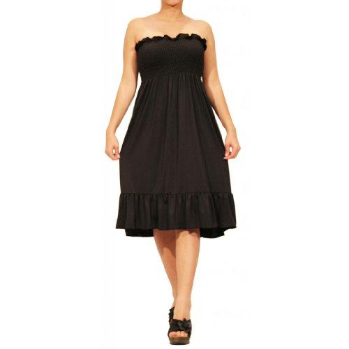 Waooh - Durchschnittliche Trägerlosen Kleid Vivi Waooh Schwarz