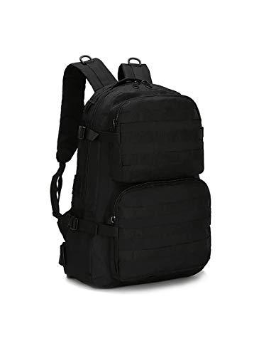 Fjiujin,Doppeltasche Outdoor Rucksack wasserdicht Männer und Frauen Gepäcktasche wasserdicht und komfortabel(color:Schwarz,size:One Size)