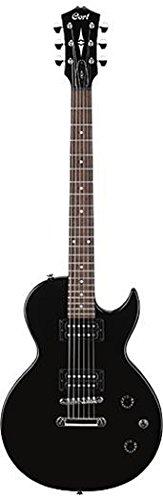 Cort CR50 - Guitarra eléctrica (calibre de cuerdas: 10-46), color negro brillante