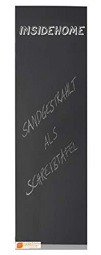 insidehome | Infrarotheizung Tafel CLASSIC | rahmenlos | hochwertige Glasheizung sandgestrahlt | deutscher Hersteller | 500 Watt - lang (130x40x2,5 cm)