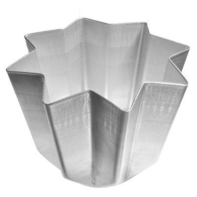 Teglia stampo tortiera forma pandoro panettone natale alluminio 1 kg