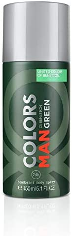 United Colors of Benetton Man Deodorant Spray, Green, 150ml