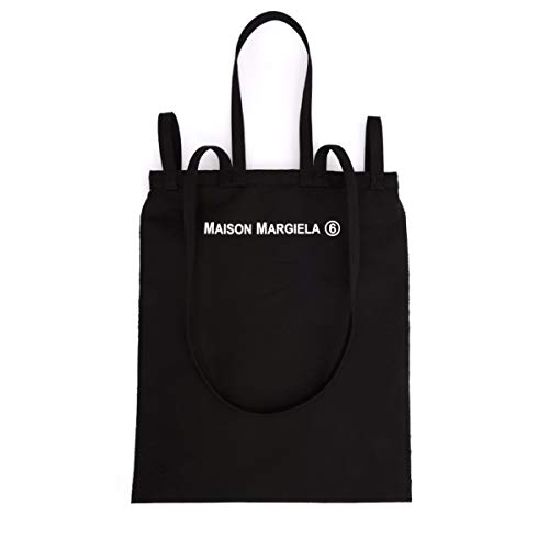 Shopper MM6 Maison Margiela Inside Out Schwarz mit Logo