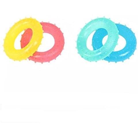 WE&ZHE massaggio anulare Grip tipo O cerchio mano ginnico gomma dispositivo dito Forza di formazione Shujin Huoluo 3/6/9 / 12 £ pacchetto di 4