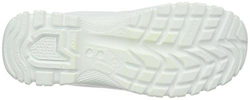 ROCK Non Safety, Unisex-Erwachsene Brogue Schnürhalbschuhe Weiß