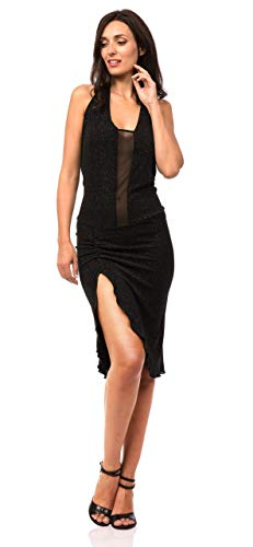 ABITO EMMA BRILLANTE. Abbigliamento donna da sera e da tango. Evening & Tango dress. Abiti Gonne Completi Top Pantaloni Vestiti Ballo Danza Scarpe Tango Shoes