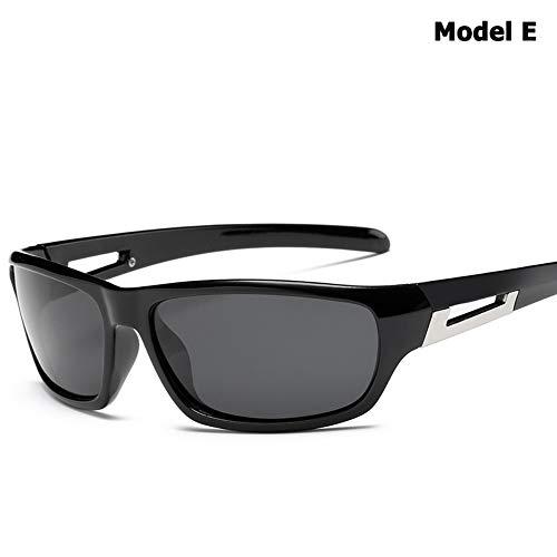ZHOUYF Sonnenbrille Fahrerbrille Tac Polarisierte Outdoor-Sport-Sonnenbrille Googles Männer Mode Reisen Angeln Berg Sonnenbrille Oculos De Sol 5 Modelle, E
