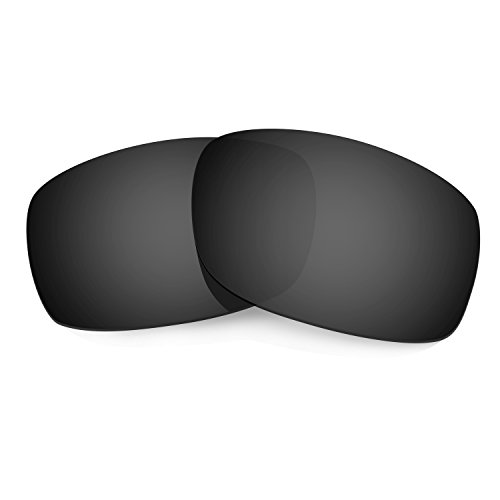 HKUCO Plus Mens Replacement Lenses For Oakley Fives Squared Sunglasses Black Polarized