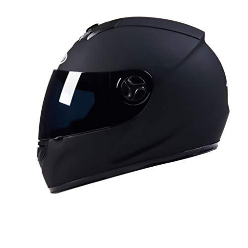 Nj casco- casco moto integrale per uomo e donna casco integrale integrale invernale per casco integrale (colore : nero-34x25x24cm)