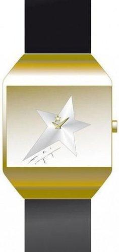 Thierry Mugler 4702808 - Reloj analógico de cuarzo para mujer con correa de piel, color negro