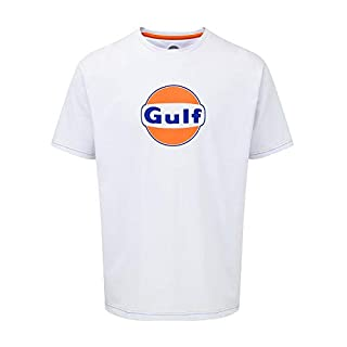 Gulf Racing Motorsport Team Mens White T-Shirt Tee Le Mans Sizes XS-XXXL