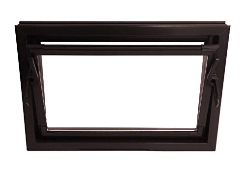 ACO 100cm Nebenraumfenster Kippfenster Isofenster braun Fenster Kellerfenster, Größe Kippfenster:100 x 80 cm