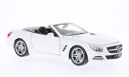 Preisvergleich Produktbild Mercedes SL 500 (R231), weiss, 2012, Modellauto, Fertigmodell, Welly 1:24