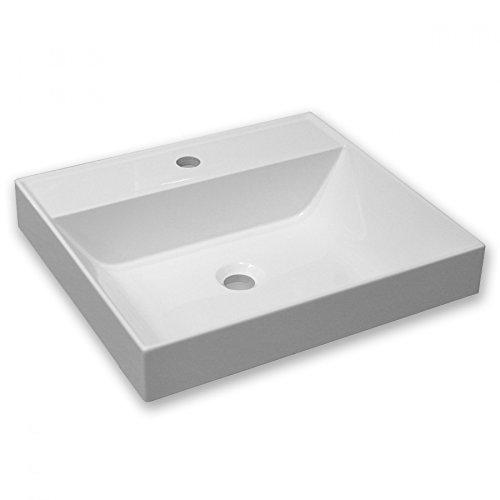 UneSalleDeBain Vasque Semi-encastrée résine 50x45 ARES-M50