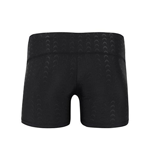 iiniim Herren Boxershorts Kompression Shorts Männer Trunks Badehose Badeshorts Schwimmshorts L-4XL Schwarz