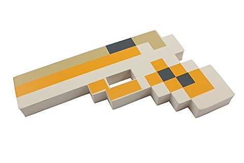 8-Bit Jouet Pistolet Pixélisé en Mousse - Couleur: Bianco by EnderToys