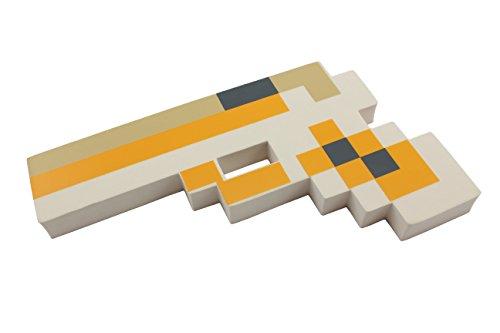 8-Bit Spielzeug Schaum Pixel Pistole - Farbe: Weiß by (Head Chicken Mask)