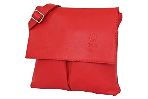 AMBRA  NL605, Borsa Messenger  Uomo rosso Rot m Rot