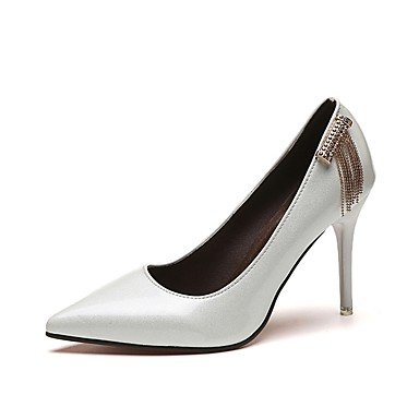 RTRY Donna Comfort Tacchi Pu Estate Casual Pearl Stiletto Heel Marrone Scuro Bianco Nero 2A-2 3/4In US5 / EU35 / UK3 / CN34