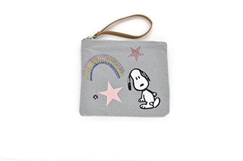 CODELLO Peanuts Snoopy KOSMETIKTASCHE Patches grau 82061604
