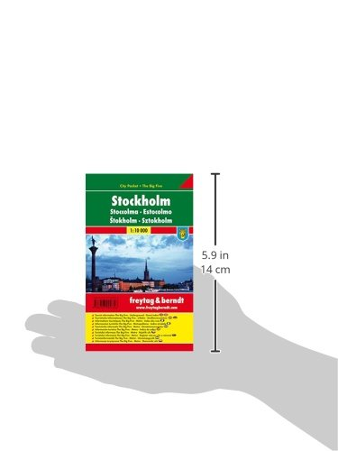 Stockholm, Stadtplan 1:10 000, City Pocket + The Big Five, Freytag Berndt Stadtpläne: Alle Infos bei Amazon