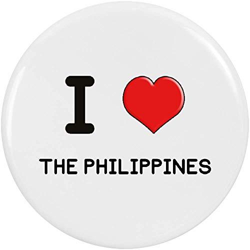 Azeeda 2 x 38mm 'I Love The Philippines' Pin Knopf-Abzeichen (BB00001552) - Philippinen Mantel