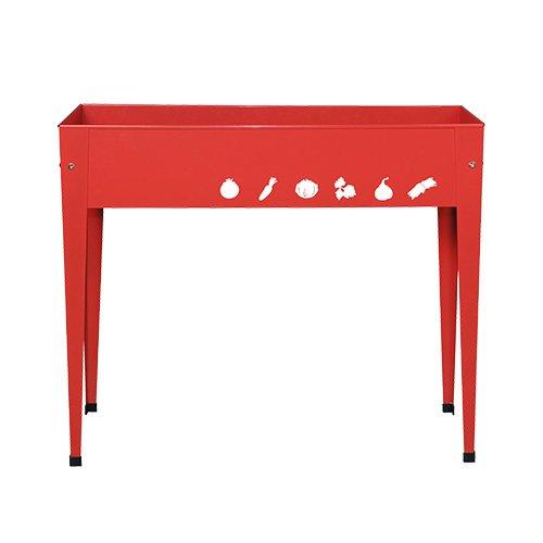 Herstera Garden 08901601 - Mesa de cultivo, 100 x 40 x 84 cm, color rojo