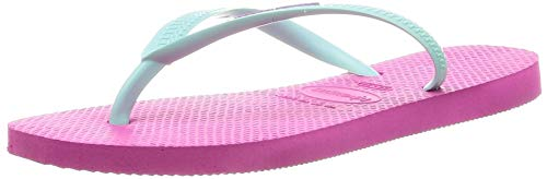Havaianas Damen Slim Logo Zehentrenner, Pink (Hollywood Rose/Ice Blue 2397), 43/44 EU (41/42 BR)