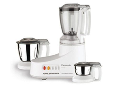 Panasonic MX-AC210 350W 1L Acero inoxidable, Color blanco - Robot de cocina (1 L, Acero inoxidable, Blanco, Botones, 0,2 L, Acero inoxidable, De plástico)