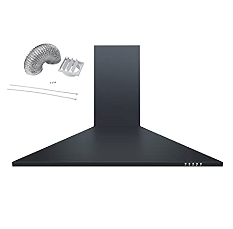 Cookology CH900BK 90cm Chimney Cooker Hood Extractor Fan in Black with Ducting Kit