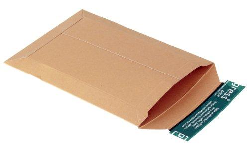 progressPACK V04.01 - Sobre de envío, (DIN A5, 167 x 240, hasta 30 mm de espacio, 25 unidades, cartón), color marrón