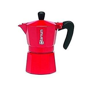 Bialetti Allegra - coffee makers (freestanding, Ground coffee, Manual, Coffee, Stovetop coffee maker, Red)