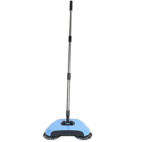 Hand Push Sweeper Kehrmaschine ohne Elektrizität, Kehrmaschine Broom Haushalt Reinigung (Blau)