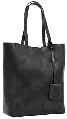 """- 31Hc1VlFE3L - Gusti Leder studio """"Cassidy"""" Genuine Leather Ladies Shoulder Shopper Tote Handbag Casual Smart Vintage Accessory Black 2H51-33-7"""