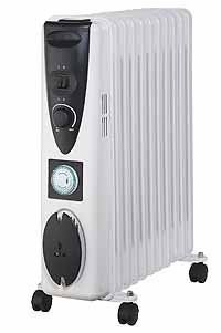 Kingavon BB-OR101 11-Fin 2.5kW Oil Filled Radiator with Timer