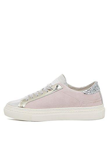DATE Scarpe donna sneakers LAX CHAMOIS PINK, camoscio, con lacci Rosa