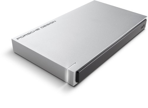 LaCie Porsche Design 8TB USB 3.0 Desktop 3.5 inch External Hard Drive for PC and Mac - Light Grey