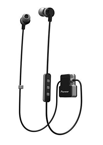 Pioneer CL5BT In-Ear Sport Kopfhörer mit Bluetooth (ClipWear), Musikwiedergabe bis zu 8 Stunden, IPX4 Spritzwassergeschützt, Freisprechfunktion, Inline-Fernbedienung, für Apple und Android, grau